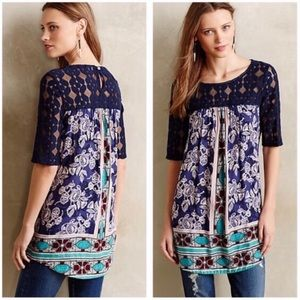 Anthropologie Tops - Anthropologie Akemi and Kin Lace Tunic Blouse